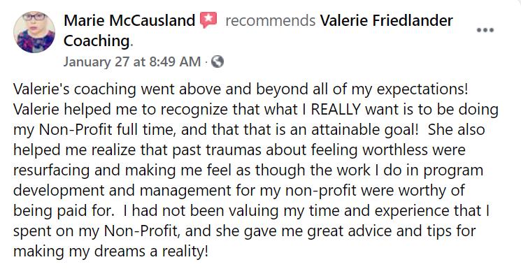 Marie testimonial
