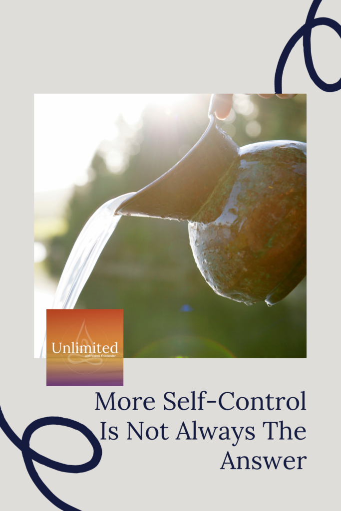 More self-control is not always the answer Pinterest post