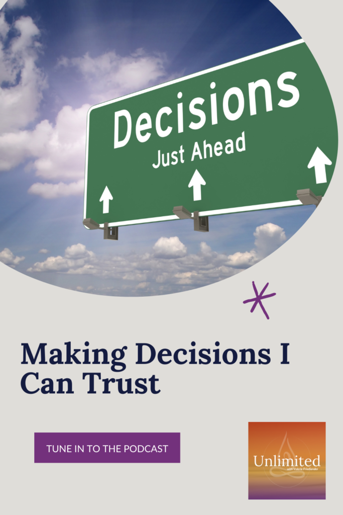 Making Decisions I Can Trust Pinterest image