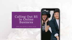 Calling Out BS in Online Business blog image