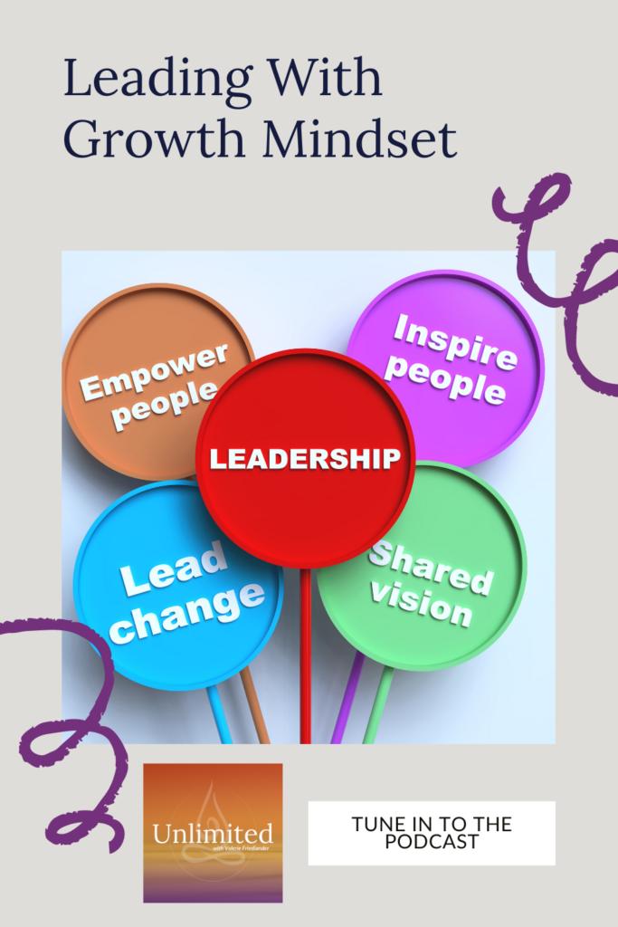Leading With Growth Mindset Pinterest image