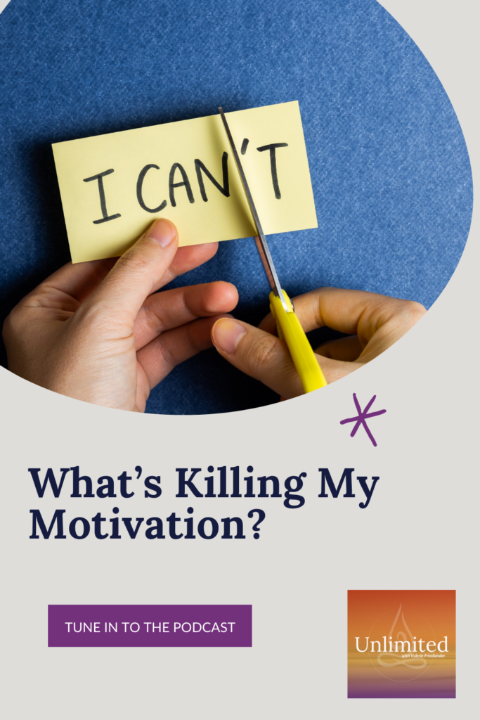 What's Killing My Motivation Pinterest Image